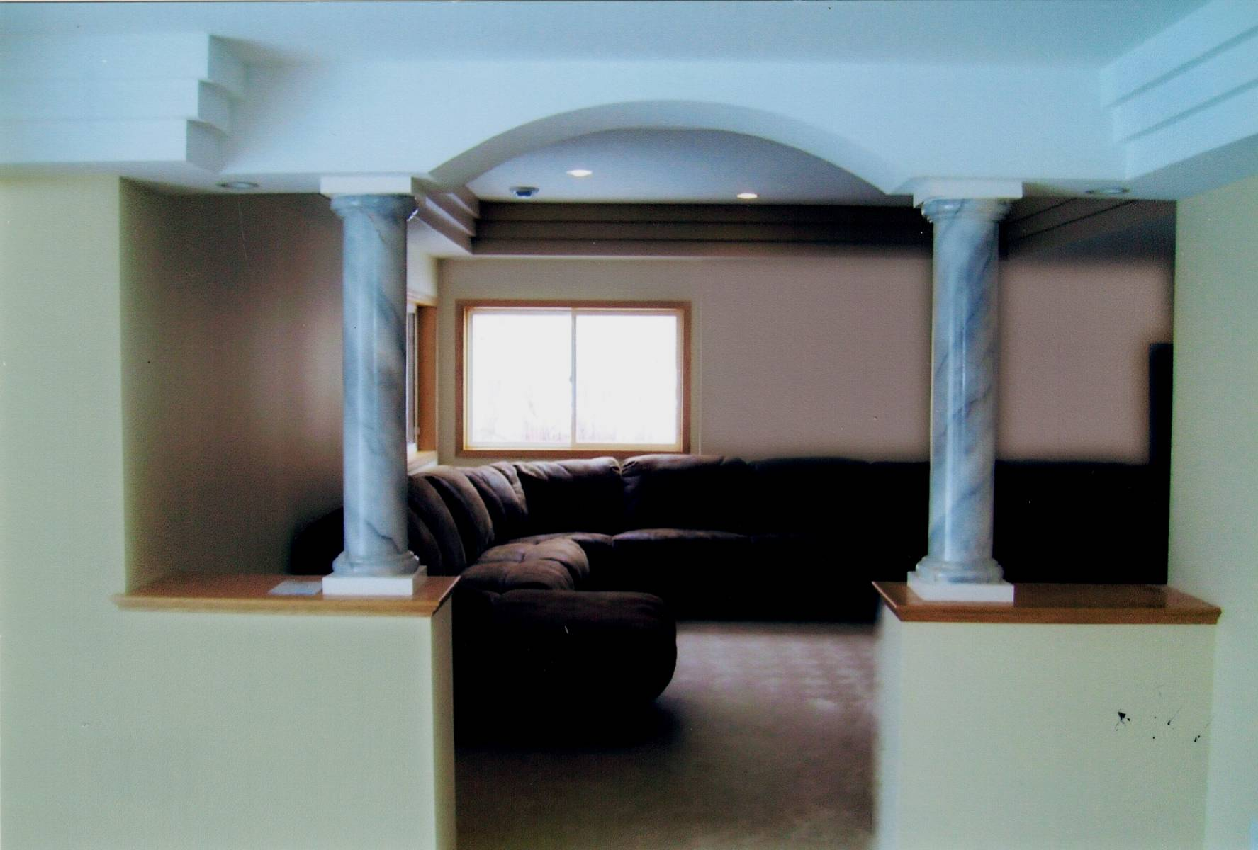 Basement Finish with Race Track Ceiling
