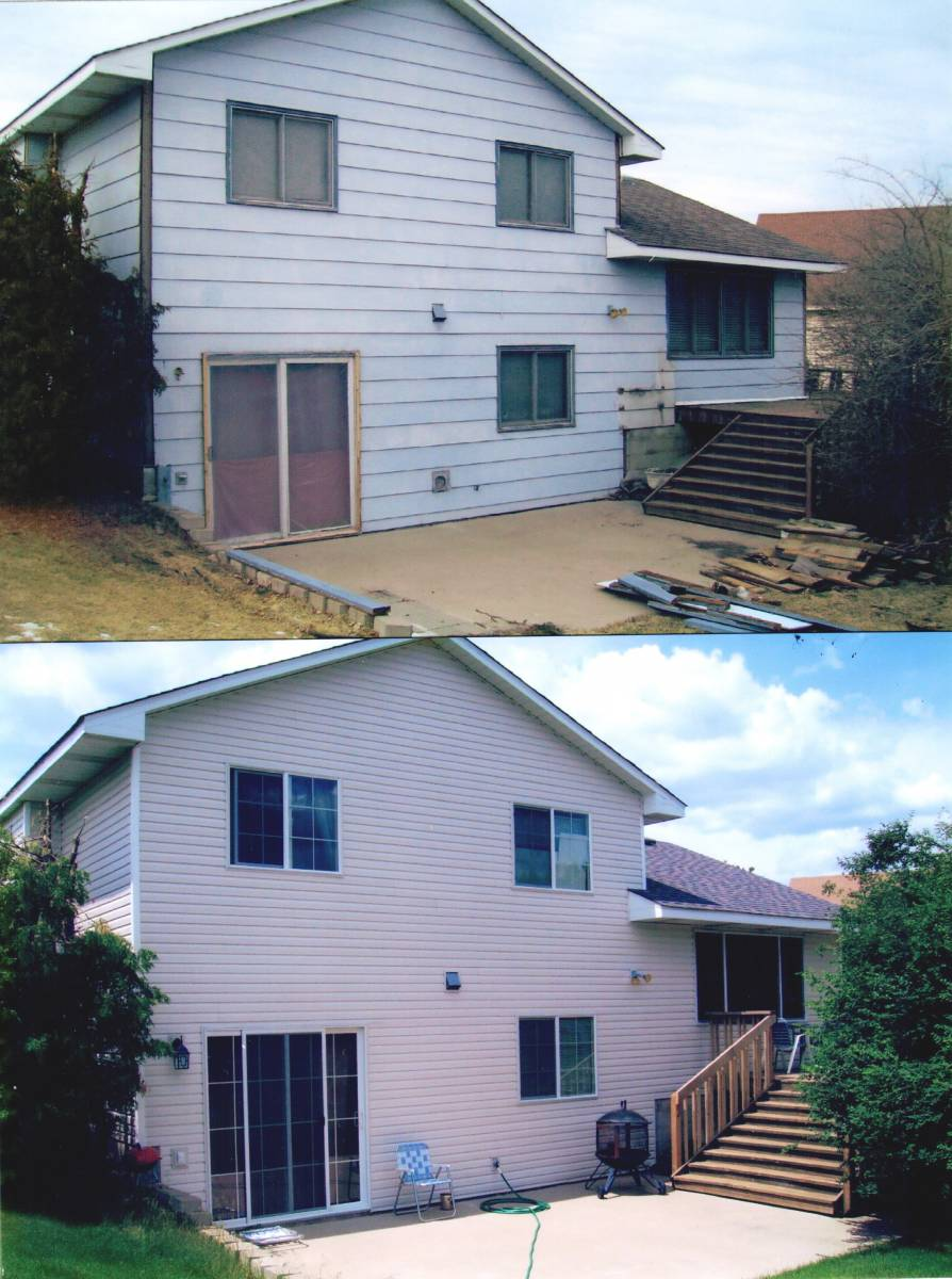 Before & After.. Siding, Windows, Deck,Soffit & Fascia, Re-Roof